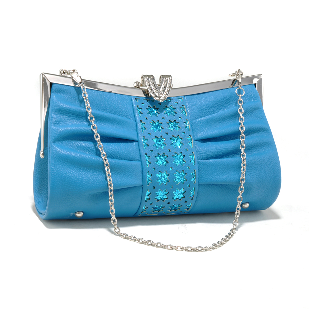 Fashlets Elegant Pleated Evening Clutch with Cutout and Sequins Design at Sears.com