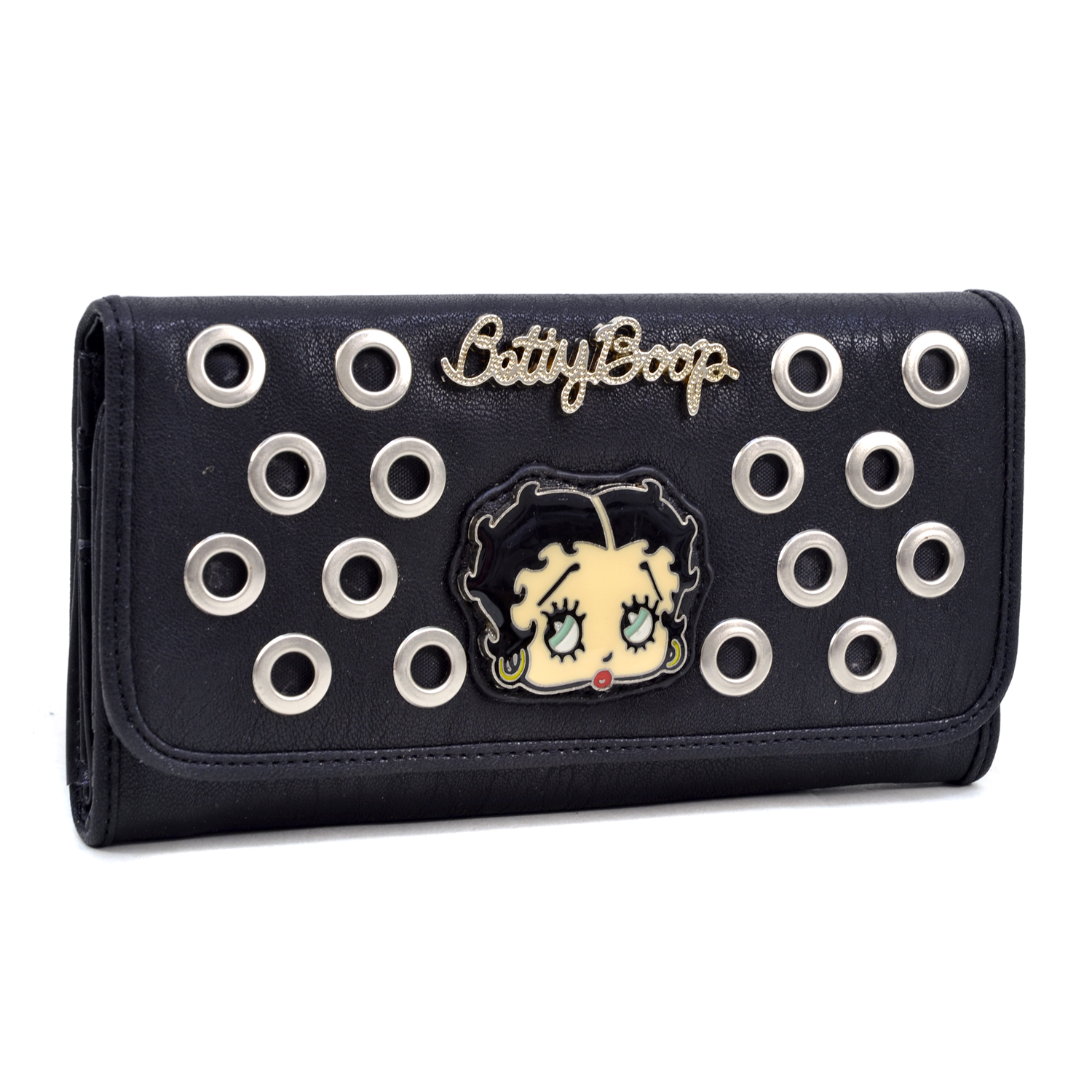 Betty Boop Checkbook Wallet with Cut Out Design and Signature Accent
