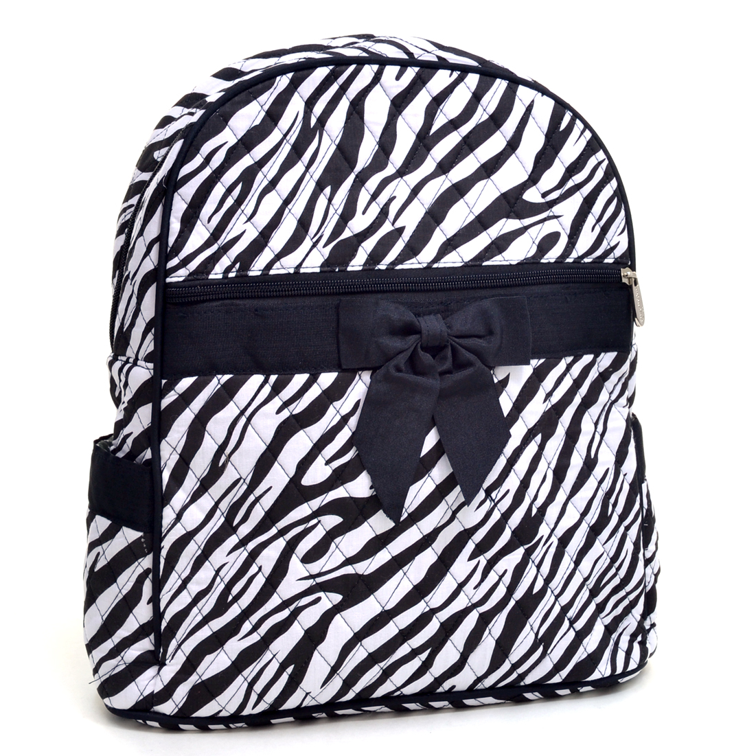 Rosen Blue Rosen Blue Zebra Printed Quilted Backpack