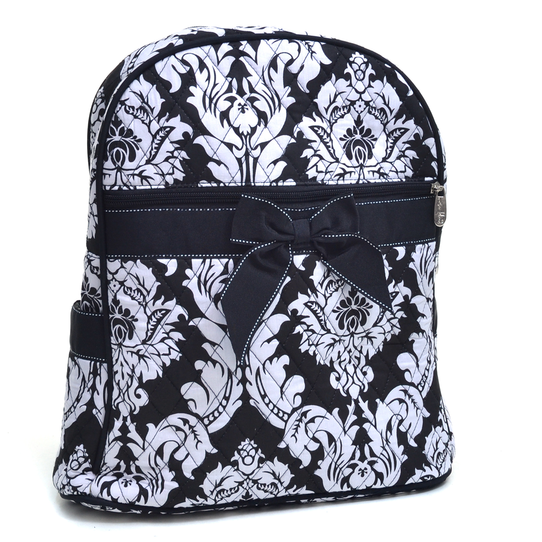 Rosen Blue Rosen Blue Damask Printed Quilted Backpack