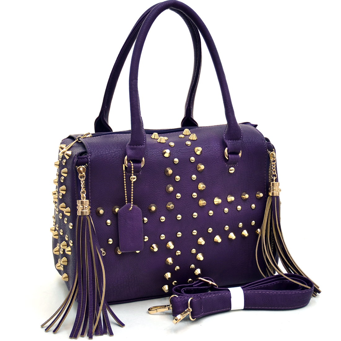 Dasein Multi-Studded Satchel With Fringe Tassels at Sears.com