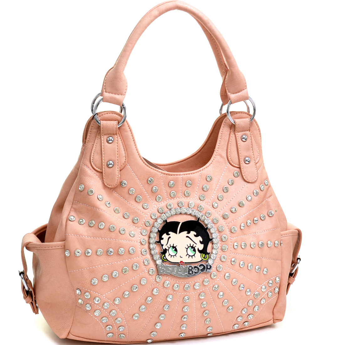 Betty Boop Betty Boop Rhinestone and Multi-Studded Shoulder Bag