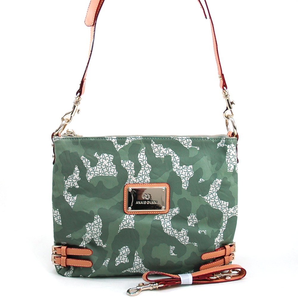 Anais Gvani  Women's Camouflage Fashion Messenger/Shoulder Bag with Interchangeable Straps - Light Green at Sears.com