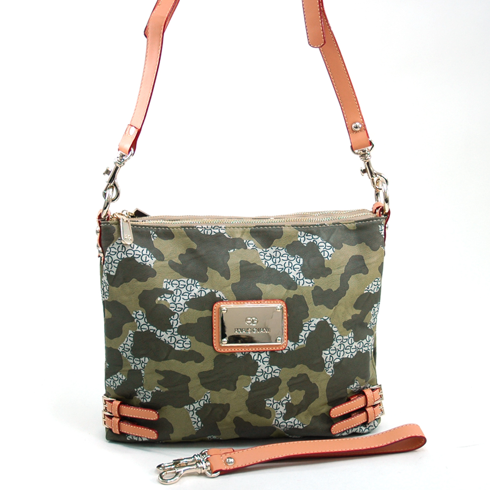 Anais Gvani  Women's Camouflage Fashion Messenger/Shoulder Bag with Interchangeable Straps - Dark Green at Sears.com