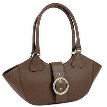 Designer inspired buckle front shoulder bag