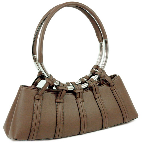 Circle handle shoulder / satchel bag