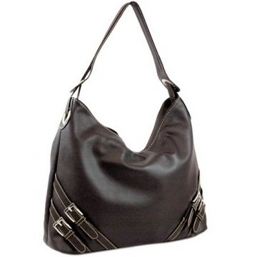 Dasein Designer Inspired Soft Hobo Bag-Black