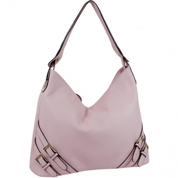 Dasein Designer Inspired Soft Hobo Bag-Pink
