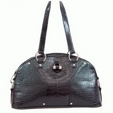 Alligator Textured  Leather Look Like Shoulder Bag