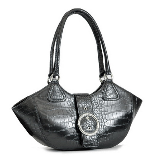 Alligator Textured Leather Look Like Fashion Shoulder Bag