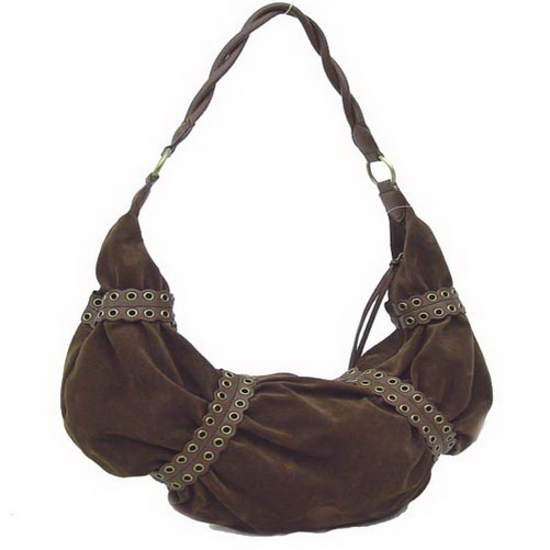 Dasein Hollowed Out Belt Decorated Hobo Bag - Brown