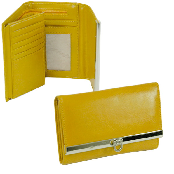 Dasein® Short Plain Fold Over Flap Wallet