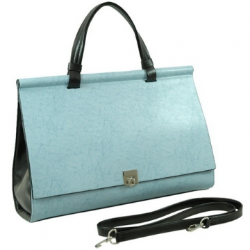 Vani Women's Designer Inspired Briefcase / Business Bag / Handbag-Blue