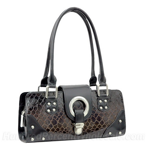 Dasein Esserpenti® Corner Studded Trim Shoulder Bag