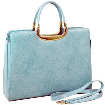 Woman Designer Briefcase Handbag Purse Bag Blue
