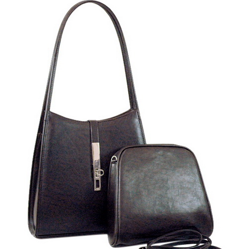 Designer inspired classic 2 in 1 Double Handbag