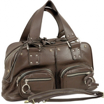 Dasein Designer Inspired Front Pockets Satchel Bag-Brown