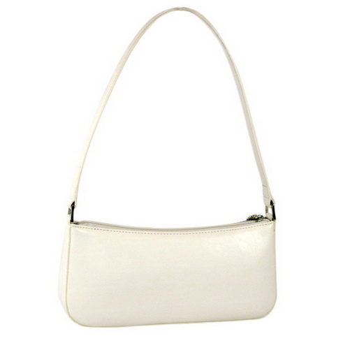 Vani Petite Elegant Fine Textured Shoulder Bag - Creamy White