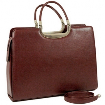Briefcase with shoulder strap