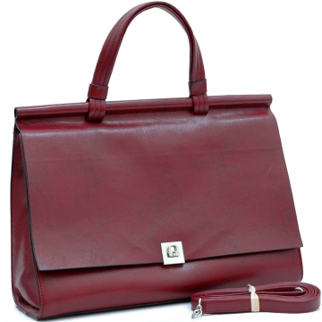 Vani Women's Designer Inspired Briefcase / Business Bag / Handbag-Red