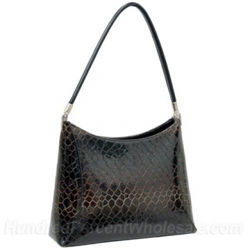 Desinger inspired patent leatherette shoulder bag
