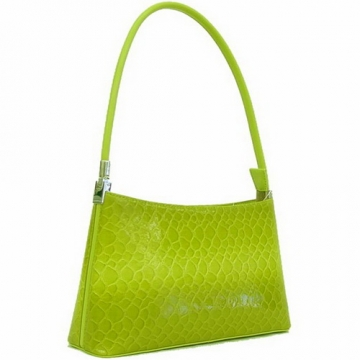 Dasein Classic Snake Skin Embossed Shoulder Bag-Green