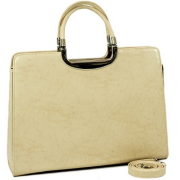 Woman Designer Briefcase Handbag Purse Bag Beige