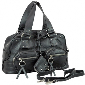 Dasein Designer Inspired Front Pockets Satchel Bag-Black