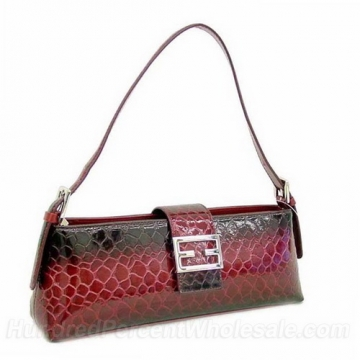 Dasein Desinger Inspired Patent Leatherette Shoulder Bag-Red
