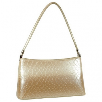 Dasein Classic Snake Skin Embossed Shoulder Bag-Beige