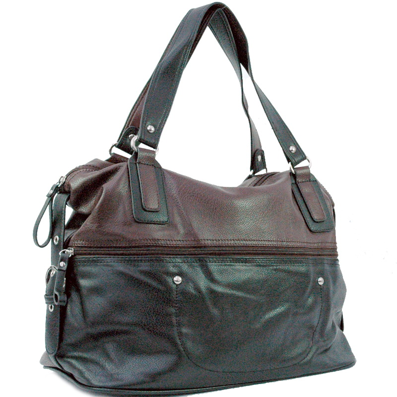 Two tone soft tote bag
