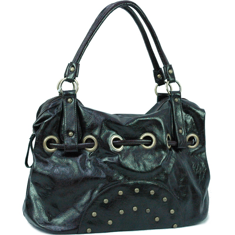 Tote bag with studs