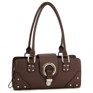 Dasein Designer Inspired Soft Shoulder Bag-Brown
