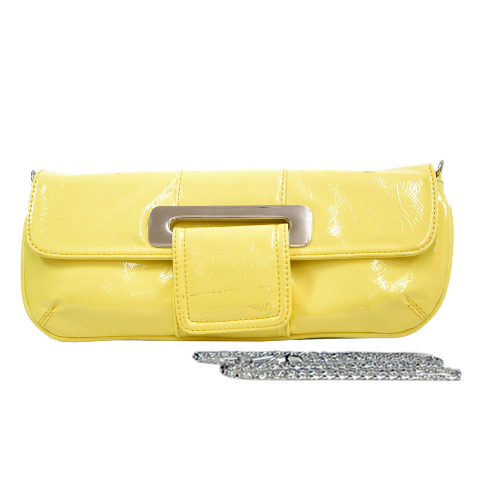 Shiny Flap-Over Evening Bag