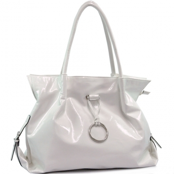 Shiny Soft Leather Like Shoulder Bag