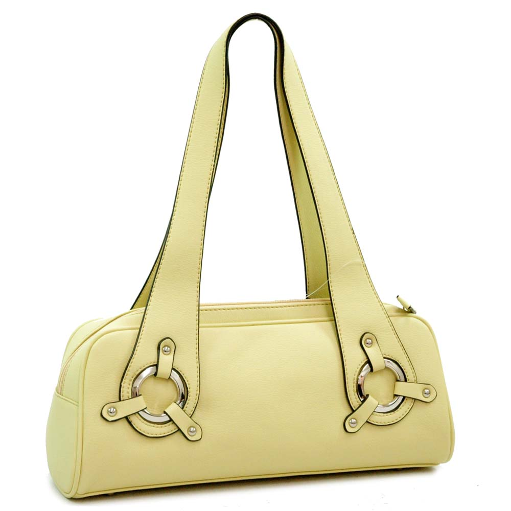 Dasein Designer Inspired Soft Shoulder Bag - Yellow