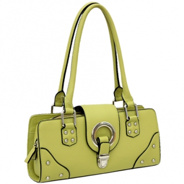 Dasein Designer Inspired Soft Shoulder Bag-Green