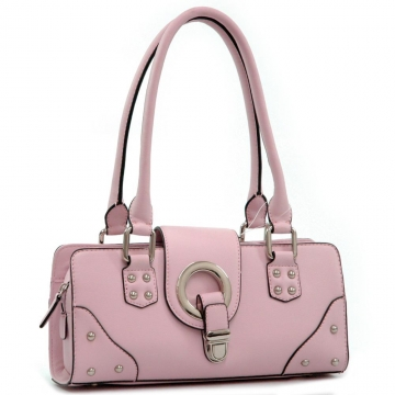 Dasein Designer Inspired Soft Shoulder Bag-Pink