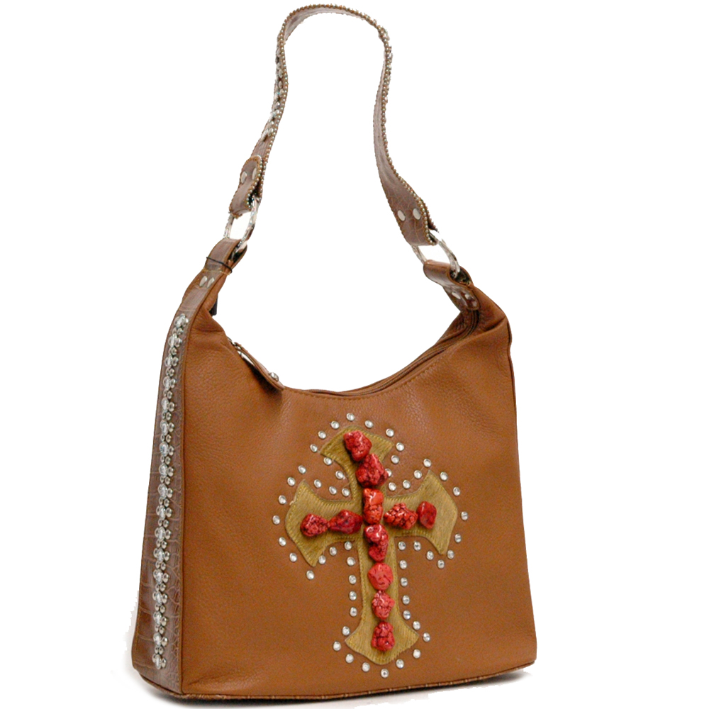 Rhinestone decorated Hobo bag