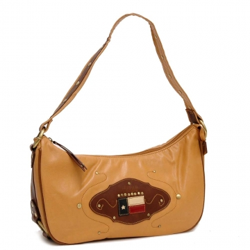Western Style Shoulder Bag Brown