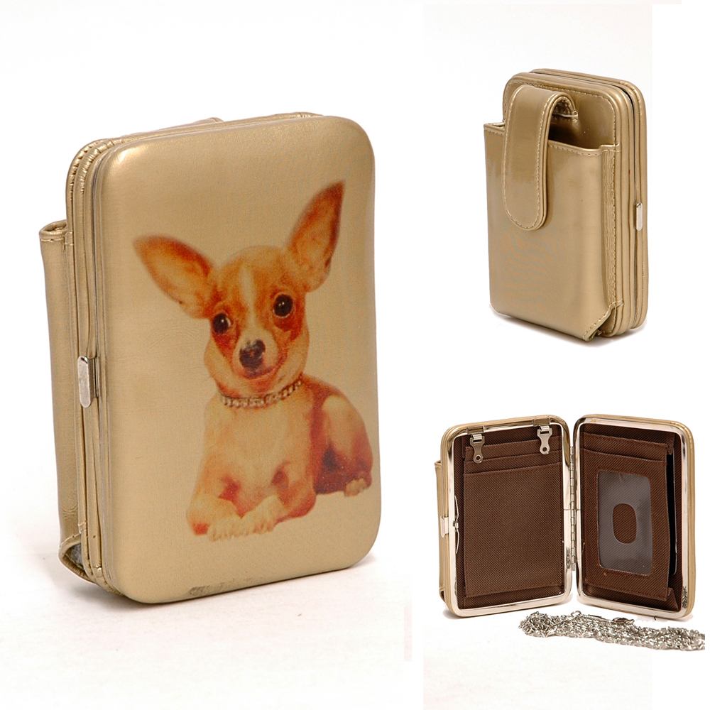 Dog Printed Cellphone / Iphone / Ipod Case Frame Wallet