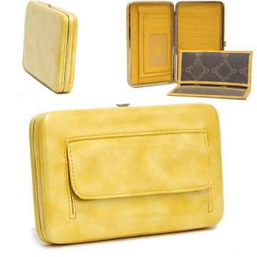 Country Road Textured Extra Deep Metal Frame Wallet-Yellow