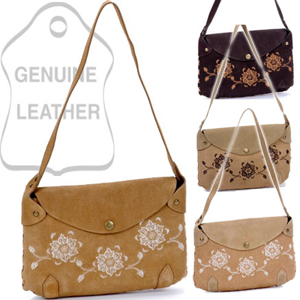 Sunway® Alpine Lily Genuine Leather Shoulder Bag