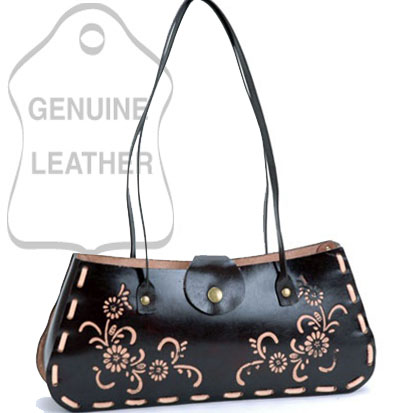 Dasein Plain Flower Printed Flip Flap Accented Shoulder Bag - Brown