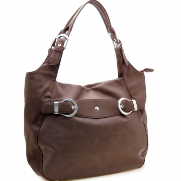 Buckle accented hobo bag