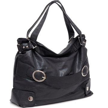 Dasein Dual Shoulder Straps Fashion Handbag-Black
