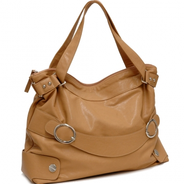 Dasein Dual Shoulder Straps Fashion Handbag-Tan