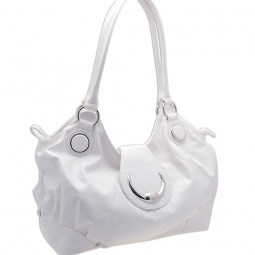 Dasein Toggle Clasp Shoulder Bag-White