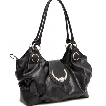 Dasein Toggle Clasp Shoulder Bag-Black