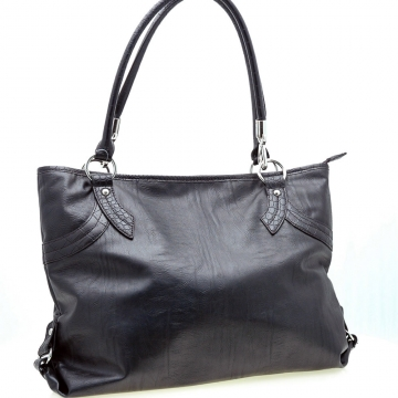 Stylish Two-Tone Tote Handbag